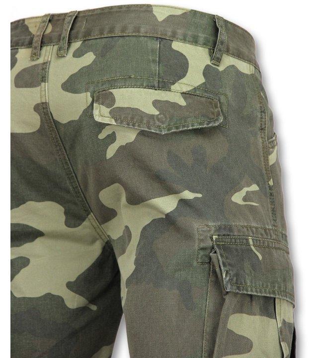 Enos Kurze jeanshosen für männer - Shorts herren jeans -9017 - Grün