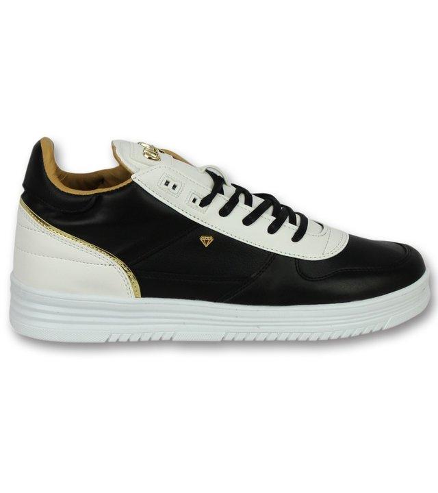 Cash Money Herren Sneaker Schwarz High - Männer schuhe Luxury Black White - CMS72