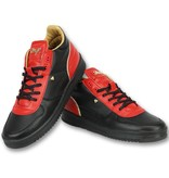 Cash Money Schuhe herren sneaker high - Luxury Black Red- CMS72 - Rot