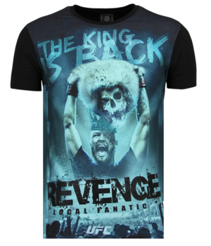 Local Fanatic Conor Mcgregor Revenge - Shirt Mit Glitzersteinen - 6348Z - Schwarz