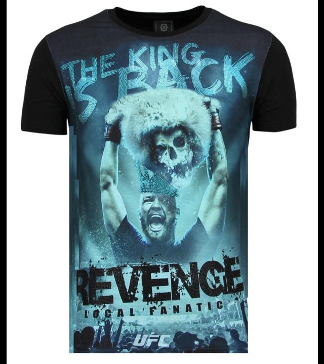 Local Fanatic Conor Mcgregor Revenge - Shirt Mit Glitzersteinen - 6348Z - Schwarz