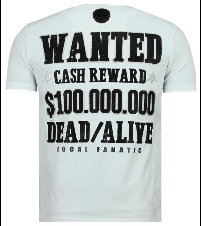 Local Fanatic Beagle Boys Rhinestones - Shirt Mit Glitzersteinen - 6319W - Weiß