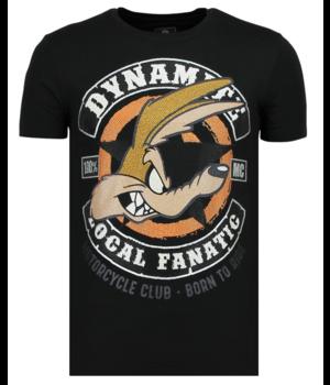 Local Fanatic Rhinestones Dynamite Coyote - Coole T-Shirt Männer - 6320Z - Schwarz