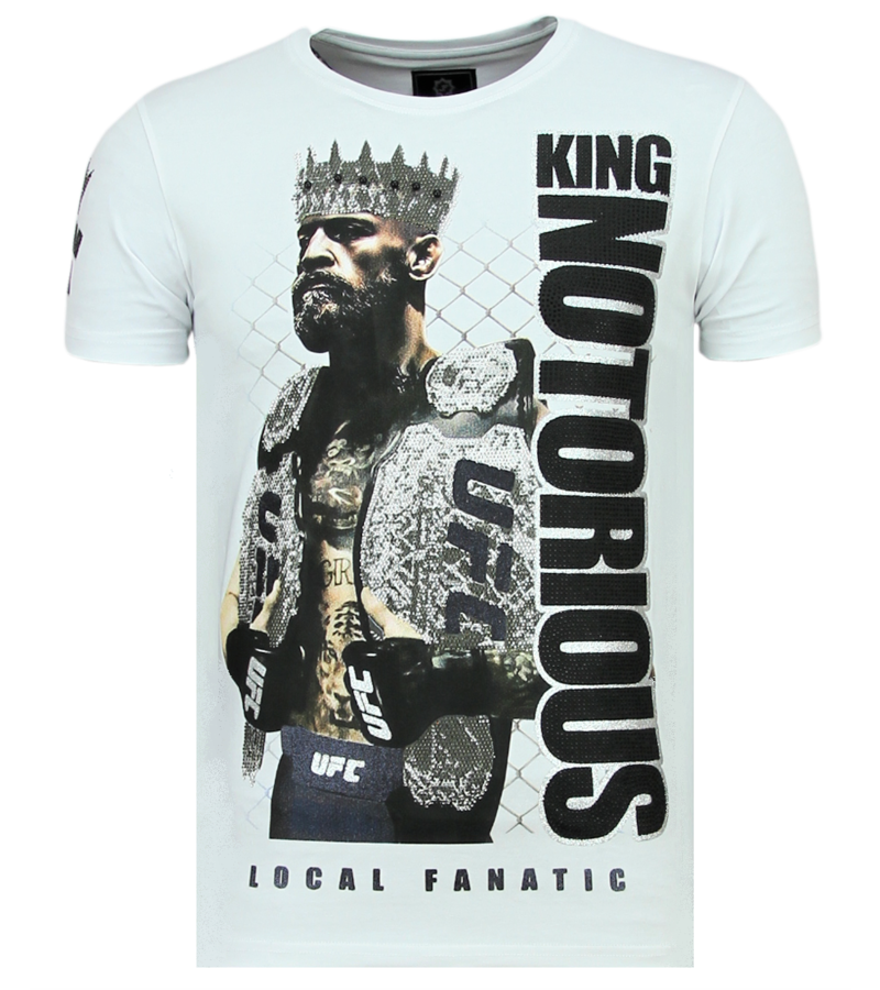 King Notorious Rhinestones   Luxus T Shirt Herren