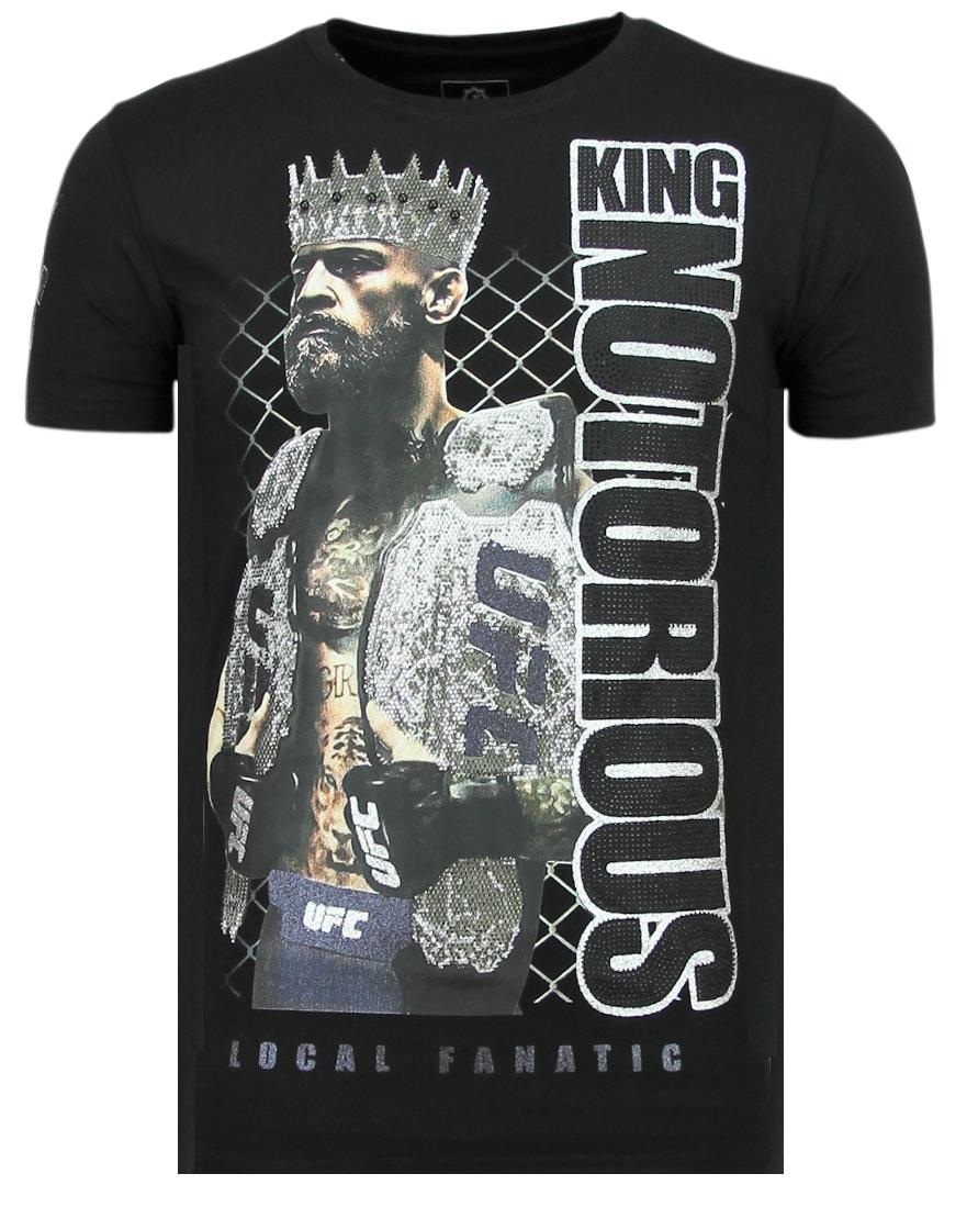 King Notorious Rhinestones   Sommer T Shirt Herren
