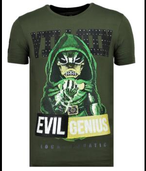 Local Fanatic Villain Duck Rhinestones - Witzig T-Shirt Männer - 6325G - Grün