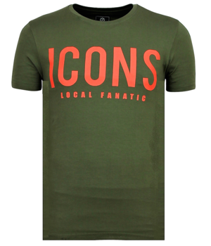 Local Fanatic ICONS print - Herren Cooles T-Shirt - 6361G - Grün