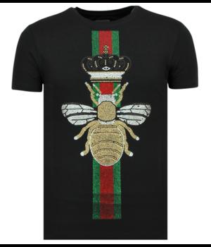 Local Fanatic Rhinestones King Fly Glitzer - Shirt Mit Strasssteinen - 6360Z - Schwarz