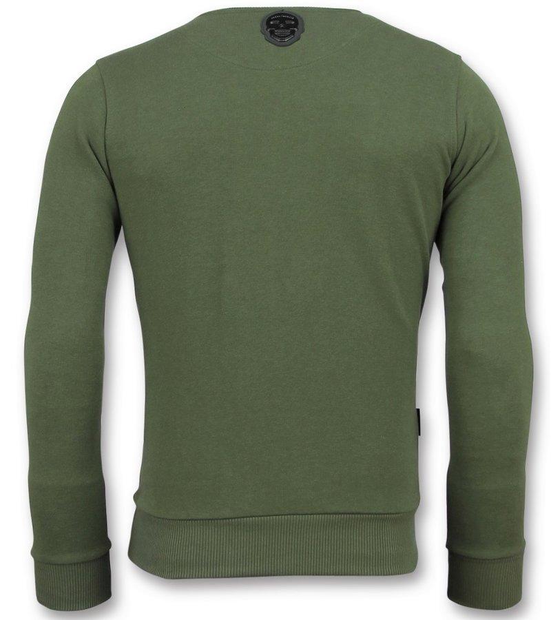 Local Fanatic Sweatshirt ICONS  - Herren Schöne Pullover - 6349G - Grün