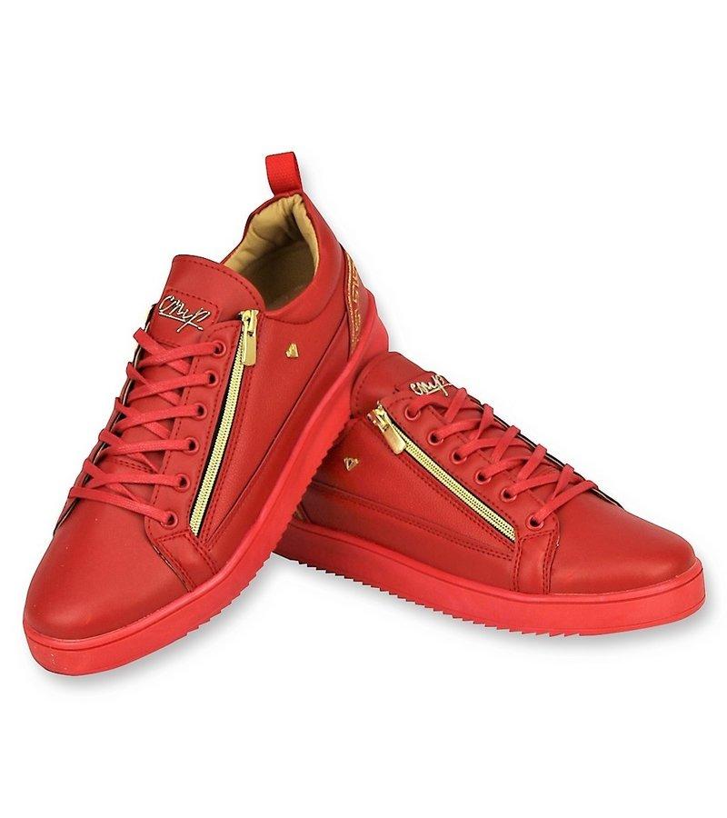 Cash Money Rote Herren Turnschuhe - Herren Cesar Red Gold - Rot