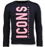 Local Fanatic ICONS  Vertical Sweater - Pullover Sale Herren - 6353N - Marine