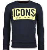 Local Fanatic ICONS Block Sweater - Herren Sweatshirt Günstig - 6355B - Marine