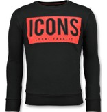 Local Fanatic ICONS Block Sweater - Sweatshirt Günstig Männer - 6355Z - Schwarz