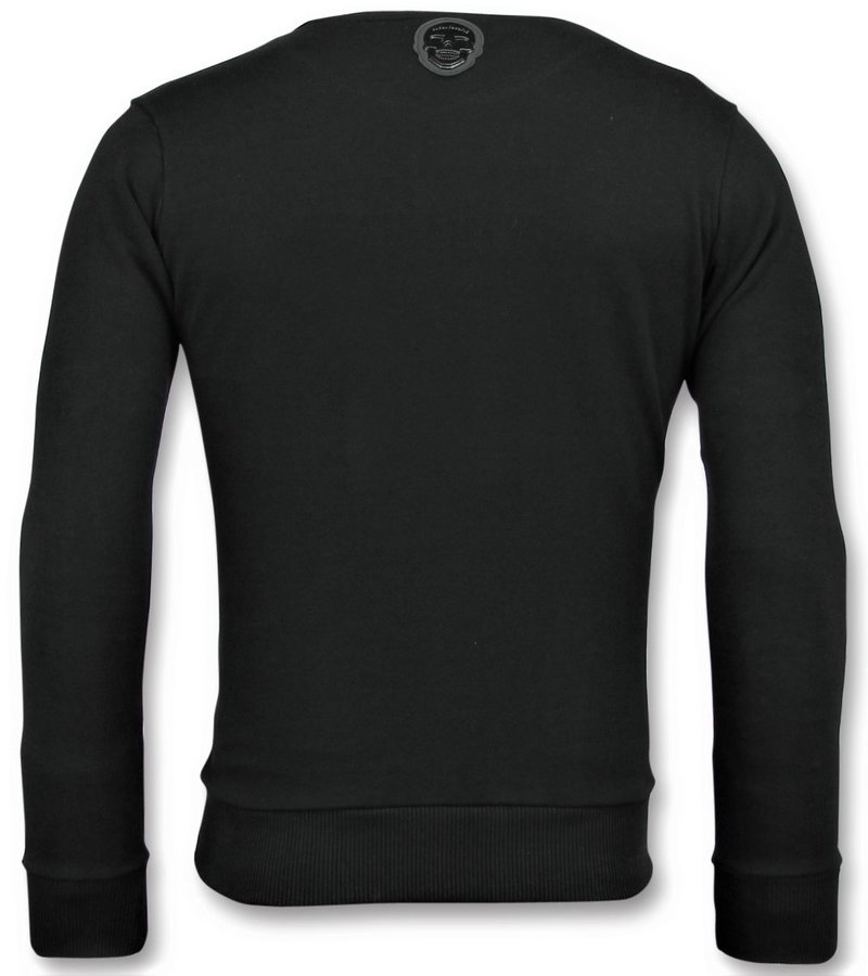 Local Fanatic Greek Border Sweater -  Pullover Designen - 6350Z - Schwarz