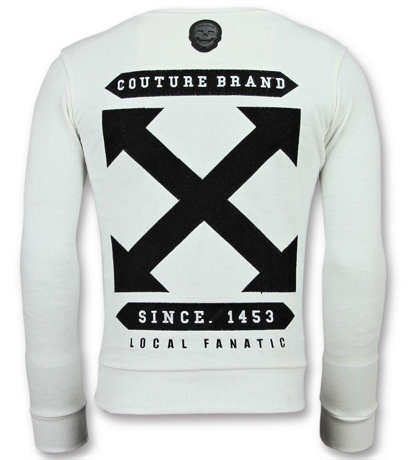 Local Fanatic Off Cross New Sweater - Pullis Für Männer - 6356W - Weiß