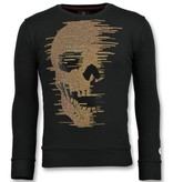 Local Fanatic Skull Glitter Rhinestones - Herren Schöne Pullover - 6343Z - Schwarz