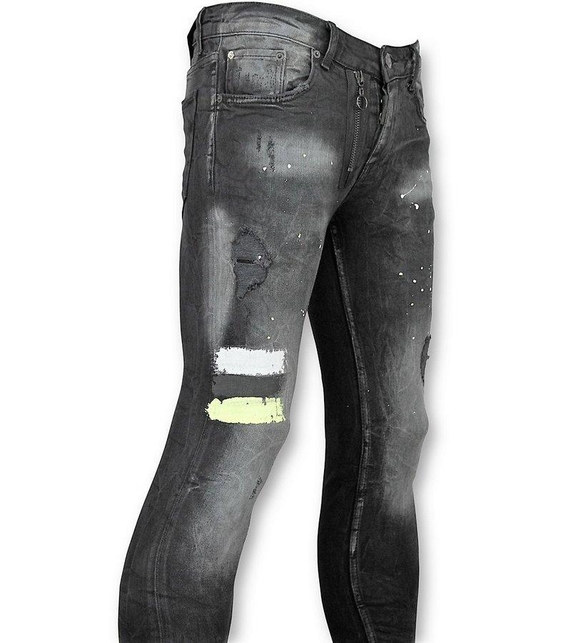 Addict Herren Jeans Sale - Schwarze Skinny Jeans Männer - 39 - Schwarz