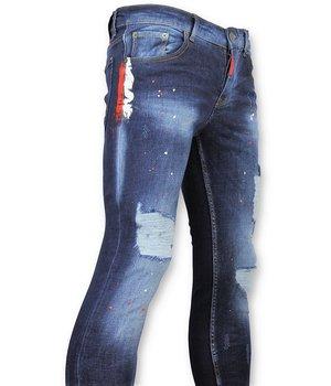 Addict Herren Jeans Sale - Blau Skinny Jeans Männer - 35 - Blau