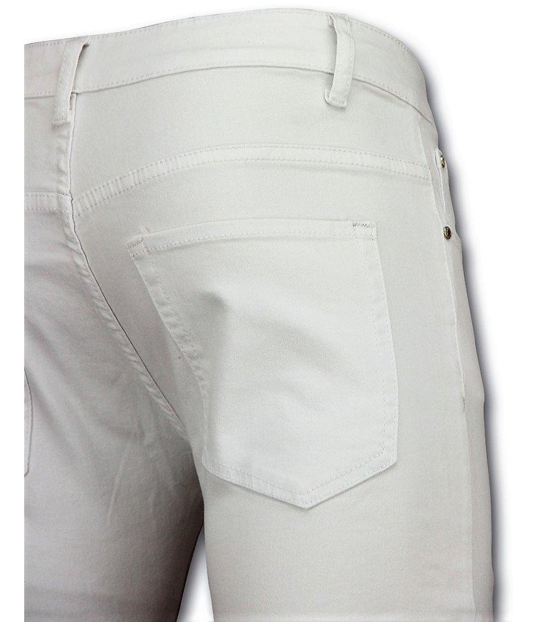 New Stone Weiß Biker Jeans Herren Skinny - Hosen Kaufen - 3017-1 - Weiß