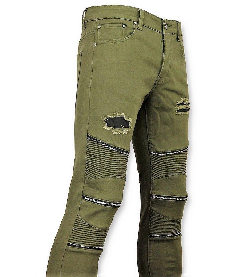 New Stone Grün Biker Jeans Herren Skinny - Hosen Kaufen - 3017-9 - Grün