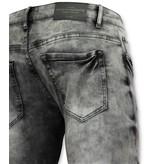 New Stone Destroyed Jeans Herren Grau - Jeanshosen - 3012-2 - Grau