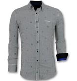 Gentile Bellini Business Hemden Langarm - Hemd Mit Streifen - 3026 - Weiß