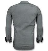 Gentile Bellini Herren Business Shirts - Streifen Bluse - 3030 - Blau