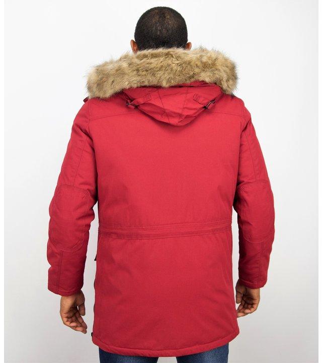 Enos Winterjacke Herren - Parka Herren - Rot