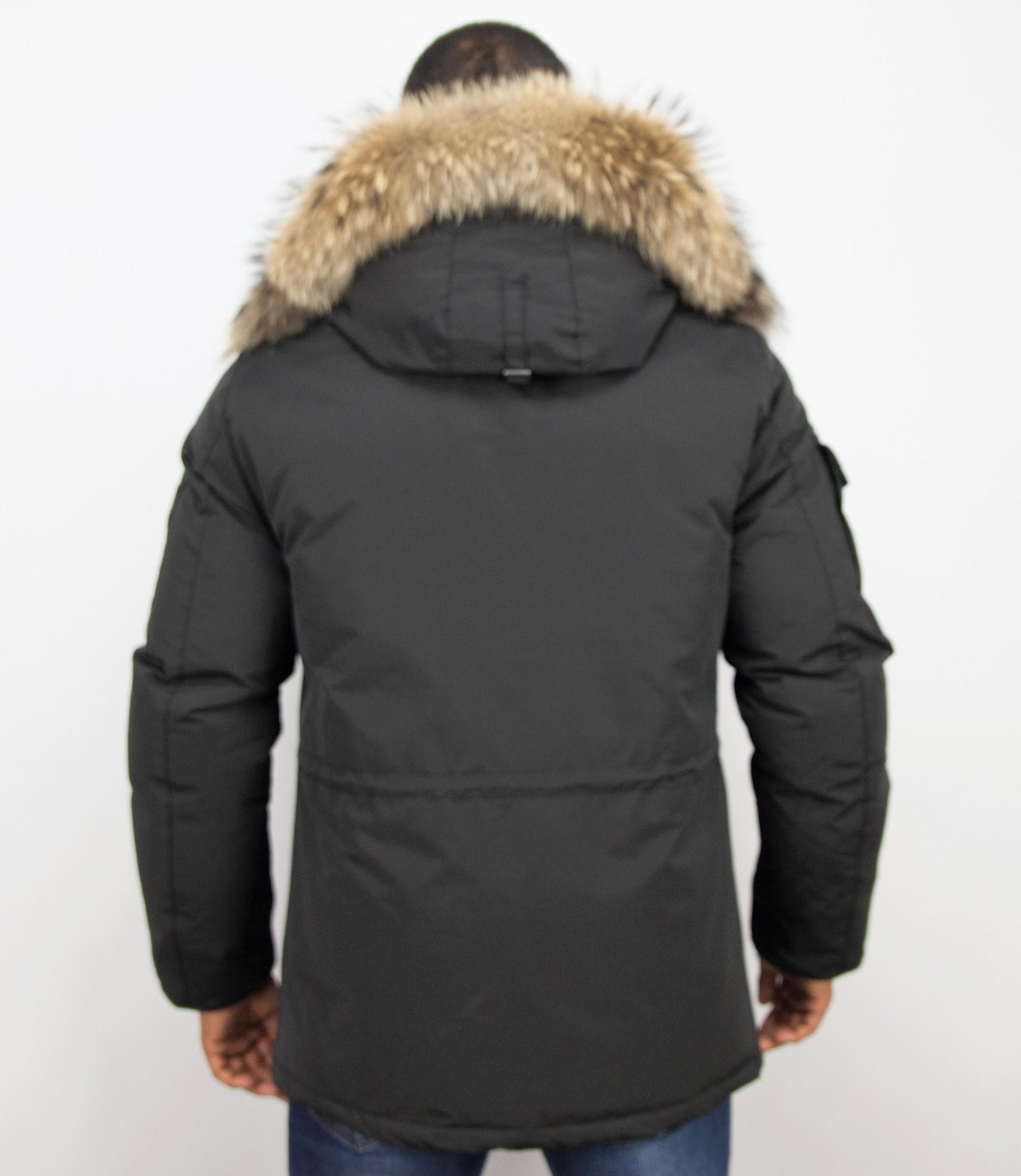 Mit Herren Jacken Lange Fellkragen Winterjacken TFlcK31J