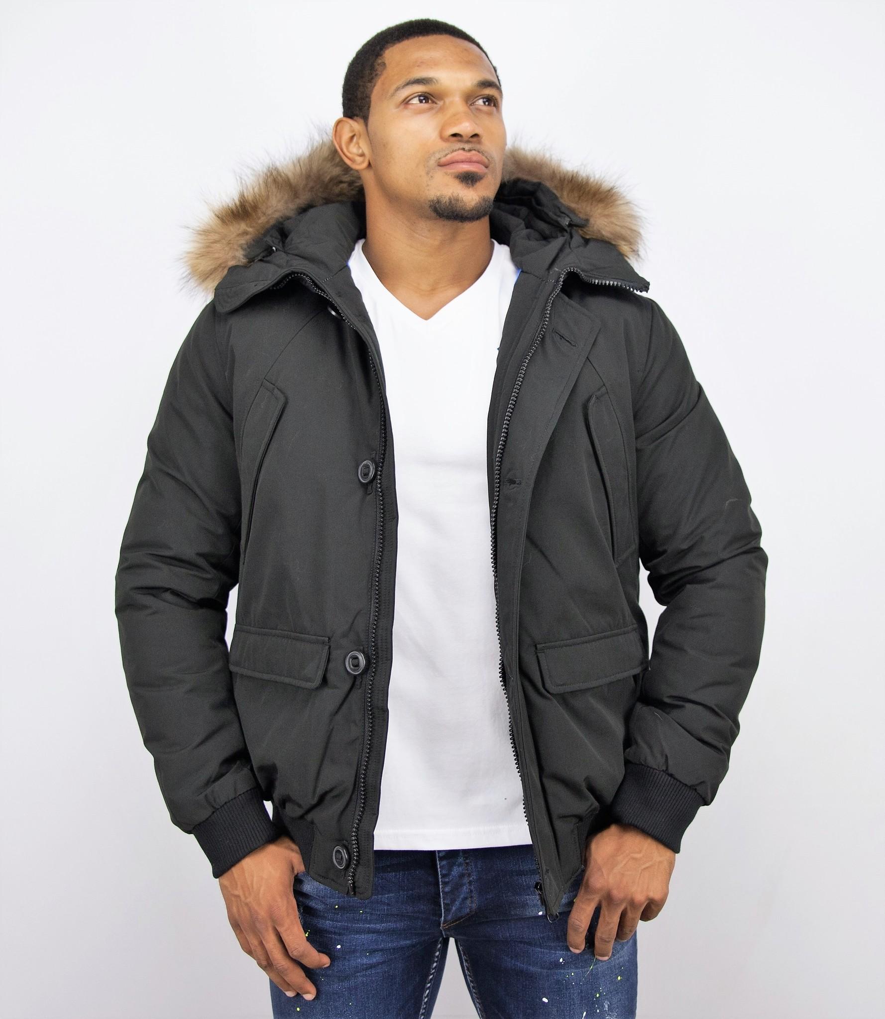 Jacken mit Fellkragen Winterjacken Herren Kurze