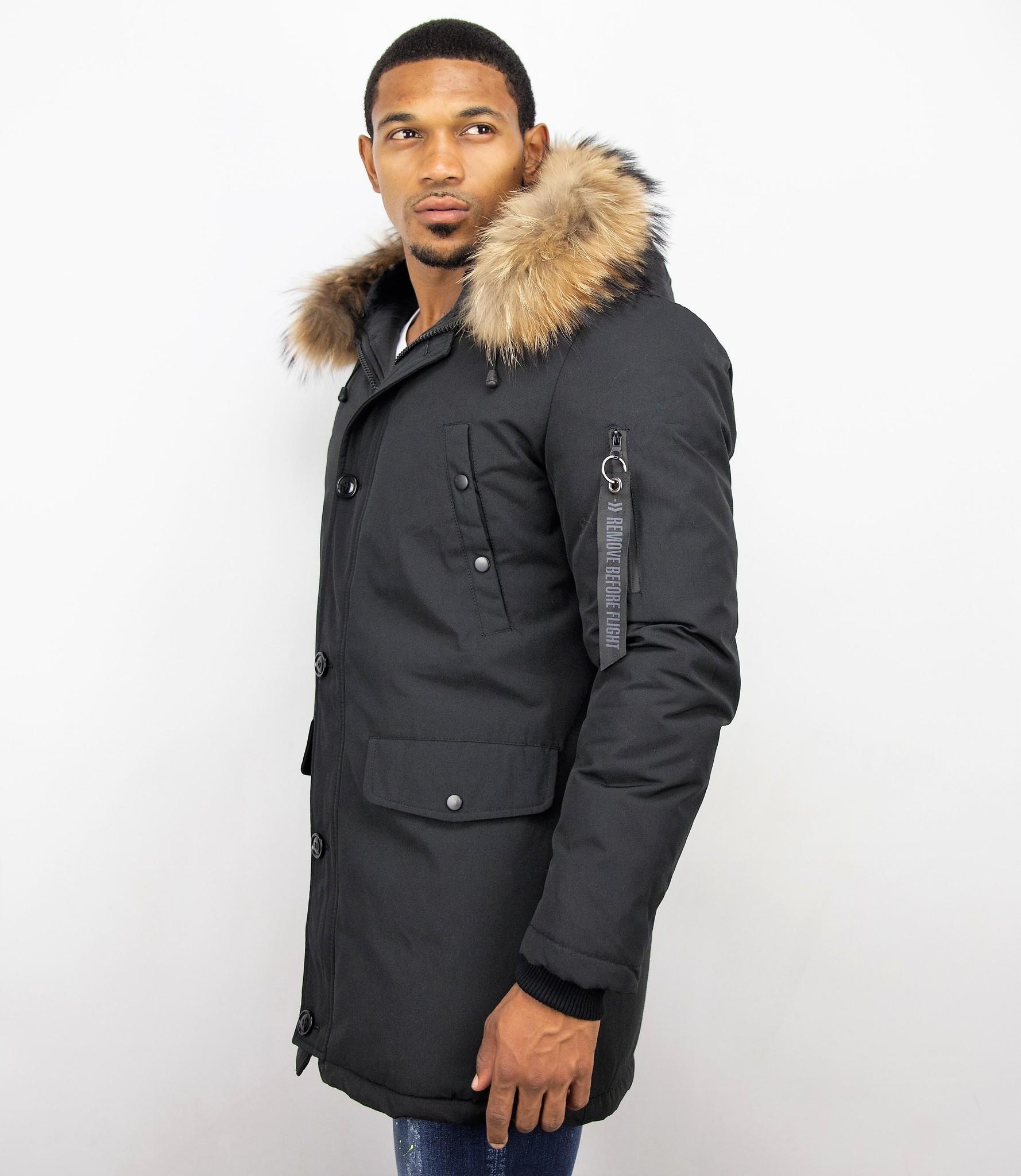 Jacken mit Fellkragen Winterjacken Herren Lange Große
