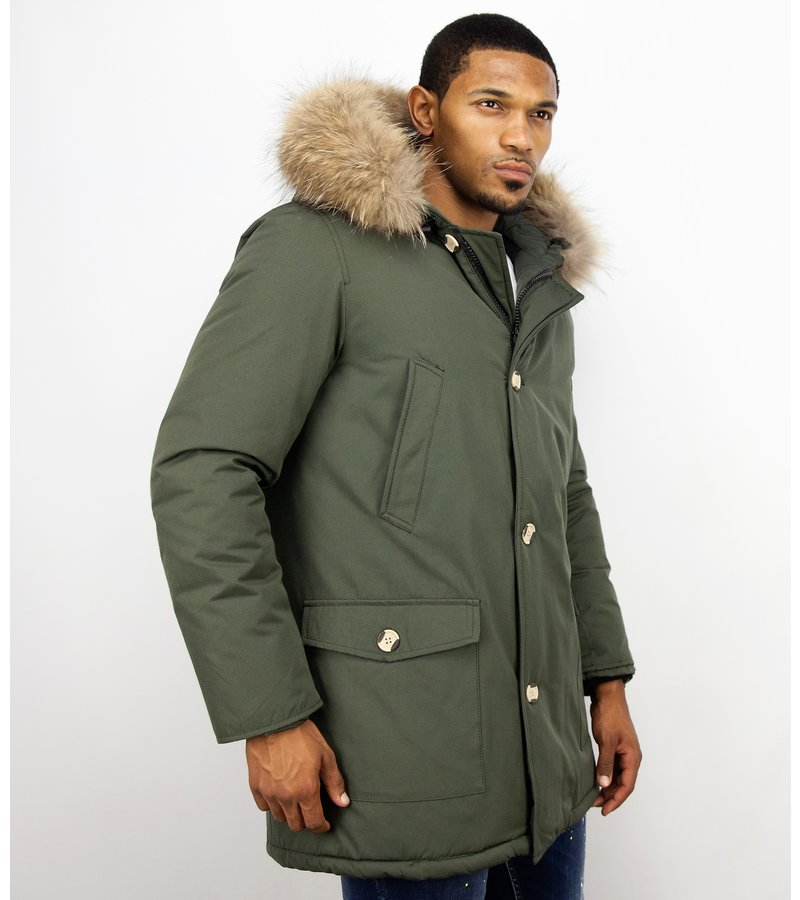 check out b1ecd db097 Enos Jacken mit Fellkragen - Winterjacken Herren Lange ...