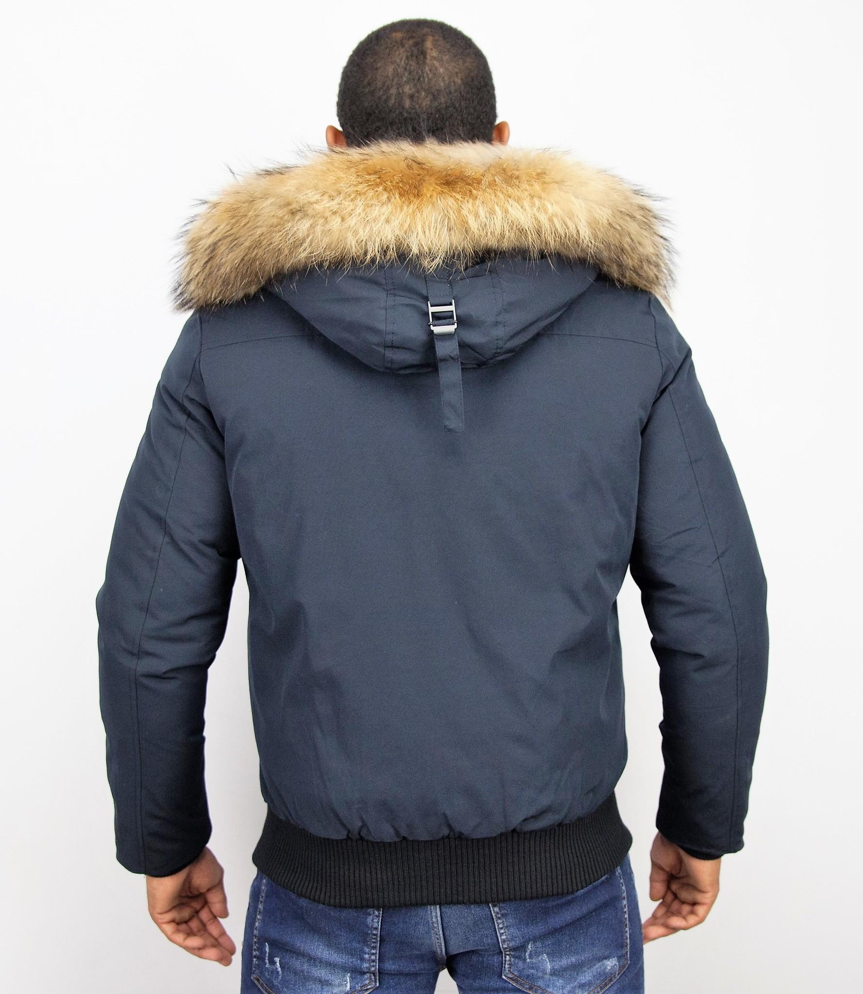 Jacken mit Fellkragen Winterjacken Herren Kurze Große