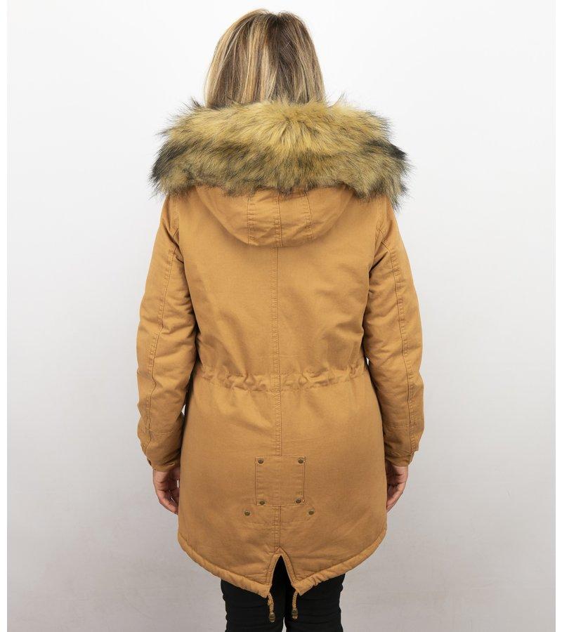 Kunstfell Jacke | Winterjacke Damen | Winterjacke mit Fell