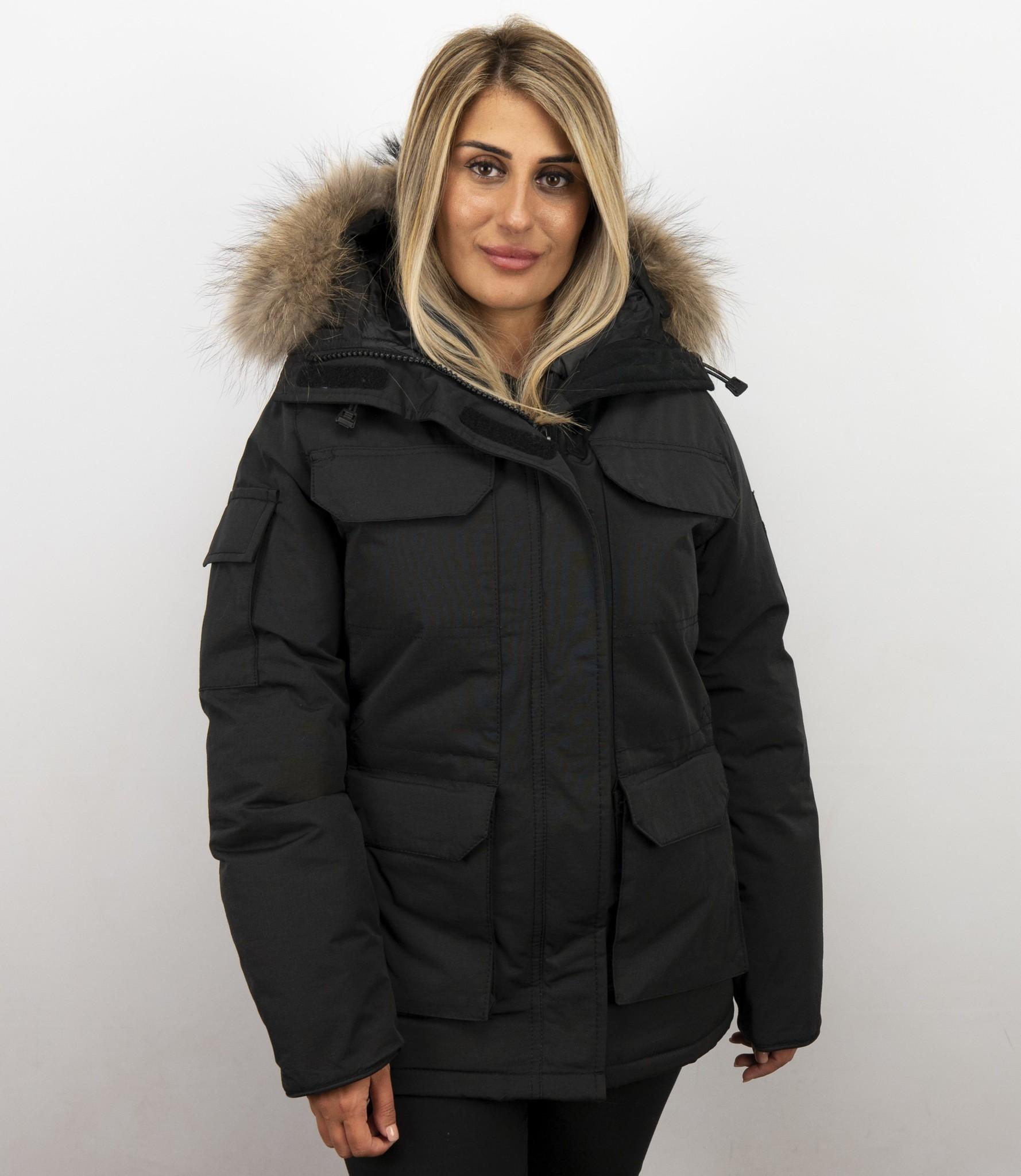 Matogla Jacken mit Fellkragen - Winterjacken Damen Lange ...