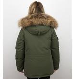 Matogla Jacken mit Fellkragen - Winterjacken Damen Lange - Grün