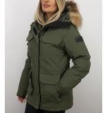 Matogla Jacken mit Fellkragen - Winterjacken Damen Lange - Expedition Parka - Grün
