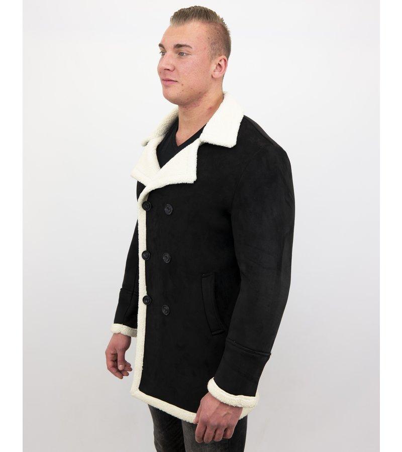 Frilivin Shearling Jacke -Lammy Coat Herren Jacke - Schwarz