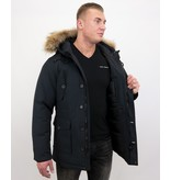 Tony Backer Winterjacken Herren mit Pelz - Parka - Blau