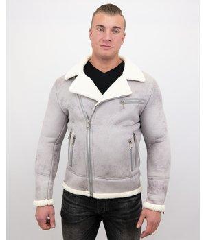 Frilivin Herren Jacke Mit Kunstfell - Lammy Coat - Grau