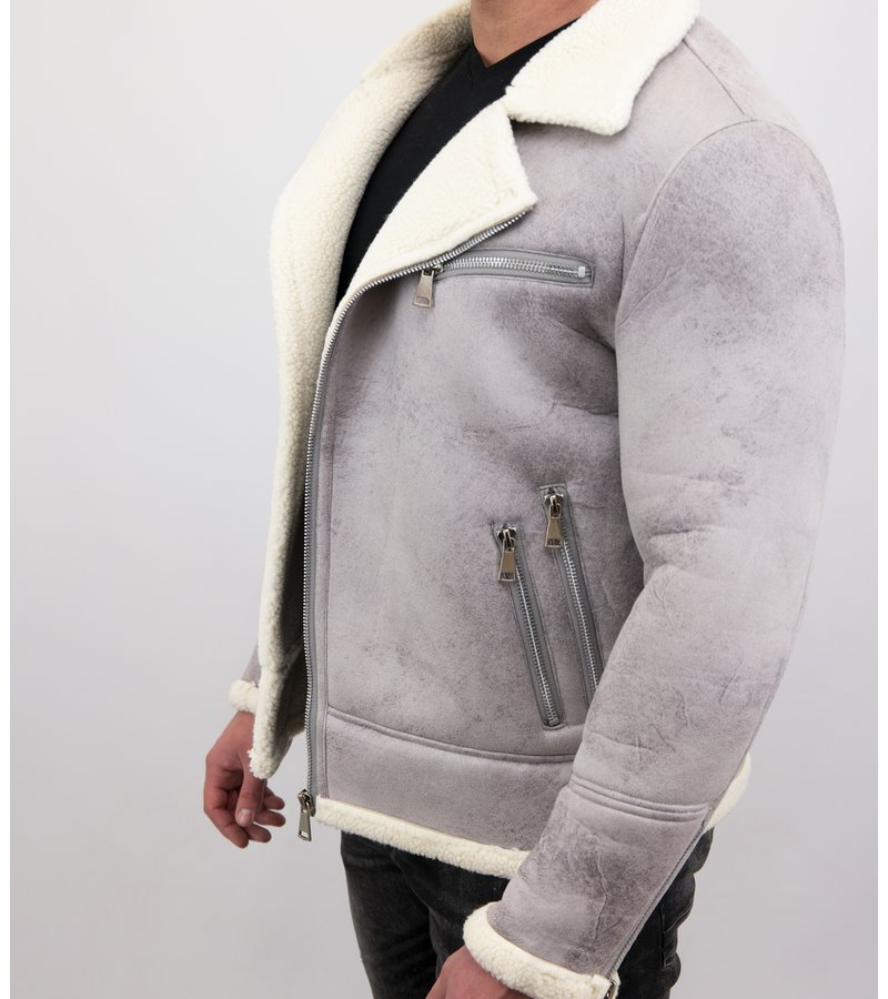 Herren Jacke Mit Kunstfell | Lammy Coat |