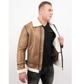 Tony Backer Lammy Coat - Shearling jacket - Braun