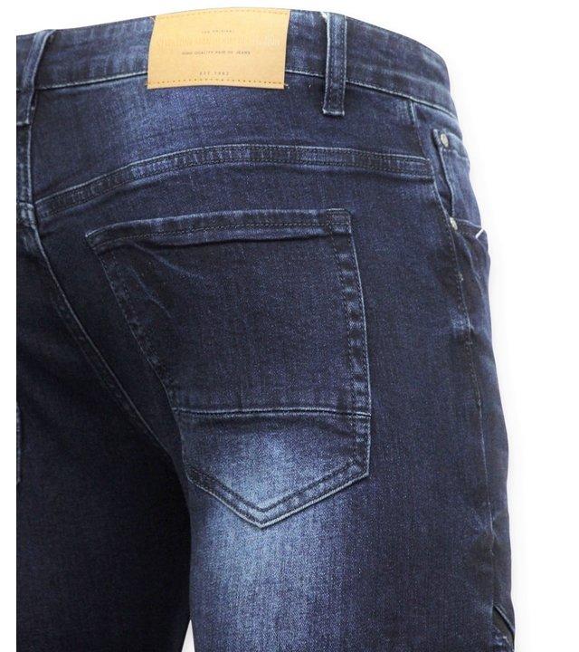 New Stone Herren Biker Jeans - Röhrenjeans - 3026 - Blau