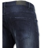 True Rise  - D&Co Basic Jeans - Herren Jeans Gewaschen - D3017 - Blau