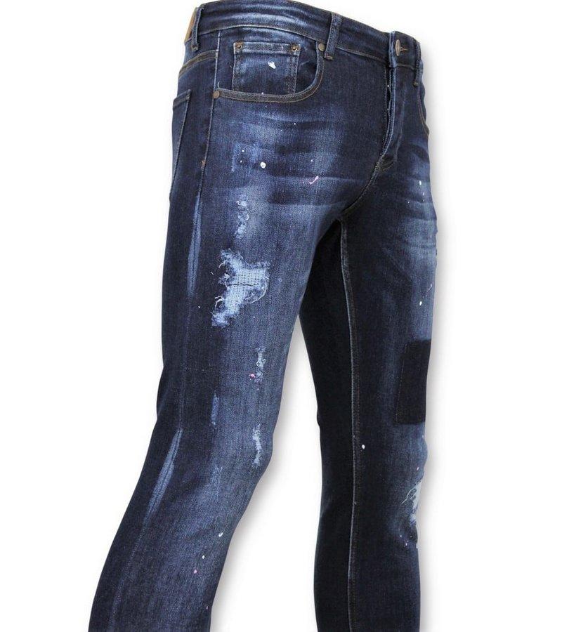 True Rise  - D&Co Basic Jeans Herren - Jeans Gewaschen - D2432 - Blau