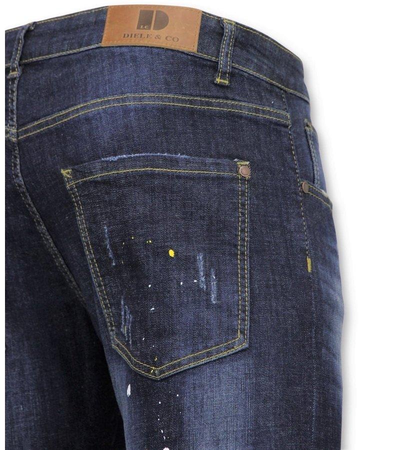 True Rise  - D&Co Basic Pants Men - Jeans mit Farbflecken - D3068 - Blau