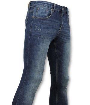 True Rise  - D&Co Skinny Basic Jeans - Herren Jeans Gewaschen - D3021 - Blau