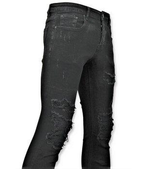 True Rise  - D&Co Zerrissene Herrenjeans - Abgenutzte Jeans - D3080 - Schwarz