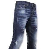 True Rise  - D&Co Basic Pants Herren - Herren Jeans Paint - D3065 - Blau