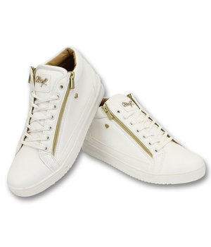 Cash Money Herren Sneaker - Bee White Gold 2- CMS98 - Weiß